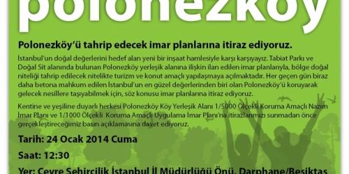 Polonezköy için basın açıklamasında buluşuyoruz!
