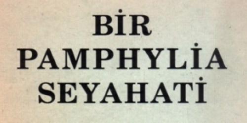 Antalyali Danieloğlu'nun 1850 Yilindaki Antalya Seyahati