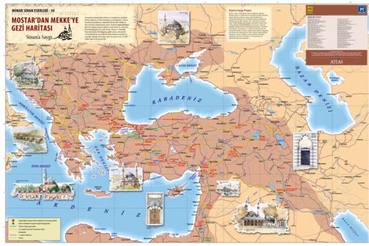 Mostardan Mekkeye haritası