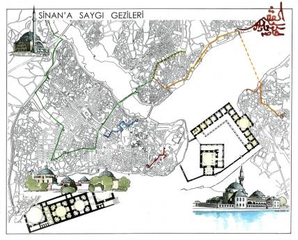 Sinan gezi haritası afişi
