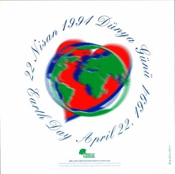 Dünya Günü, Türkiye gündemine ÇEKÜL'ün önderliğinde geldi. Afiş tasarım, Yetkin Başarır