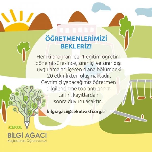 ÇEKÜL Bilgi Ağacı Öğretmen Programları Başlıyor!