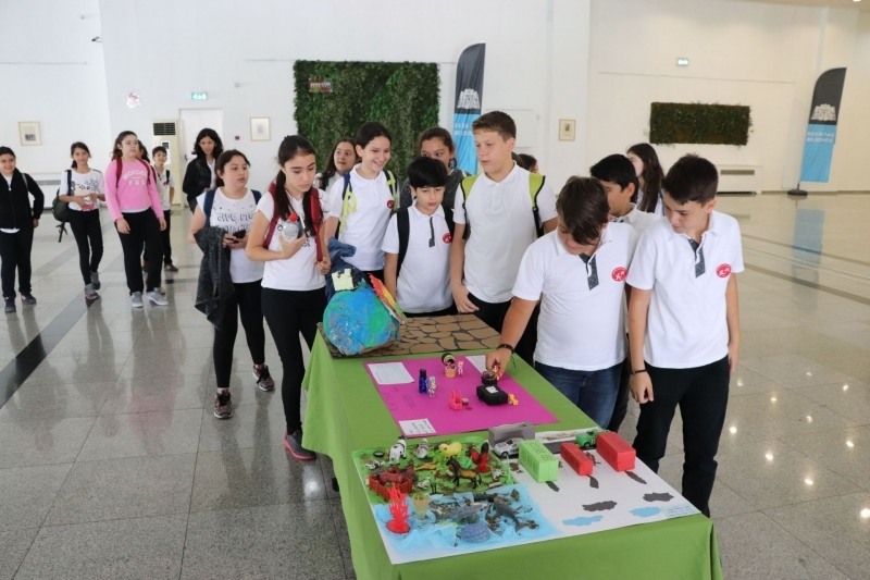 Dünya Çevre Gününde öğrencilerden ekolojik farkındalık