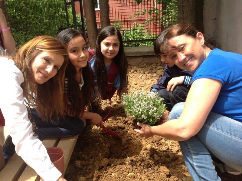 Domates biberle canlanan okul bahçeleri