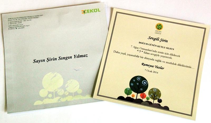 7 Ağaç için yeni sertifikalar