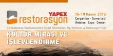YAPEX'te kültür mirası ve işlevlendirme konuşulacak